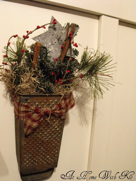 Holiday Cheese Grater arrangement