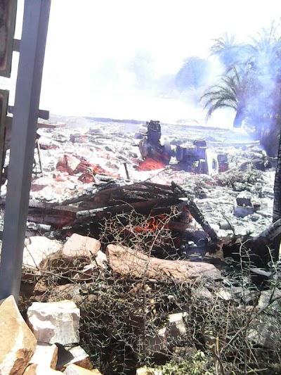सिलेंडर फटने से दो परिवार के घर जलकर हुए राख