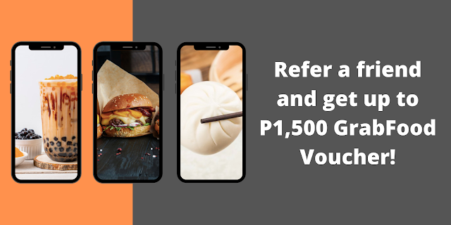 Refer a friend and get up to ₱1,500 GrabFood Vouchers! Union Bank
