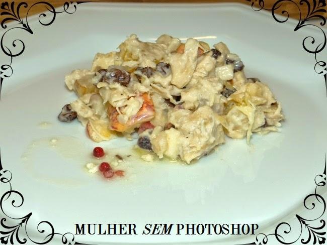 Receita de Frango com Salada de Frutas