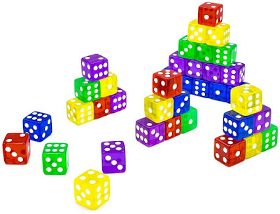 colored dice for math