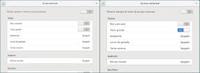 Configurar el sistema. Accesibilidad en Linux y otros. Portada. Tamaño.
