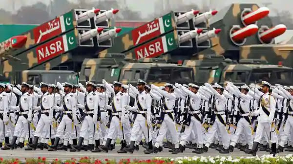 Pakistani Navy soldiers during Pakistan Day military parade in Islamabad