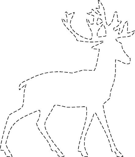 ciervo para imprimir y recortar