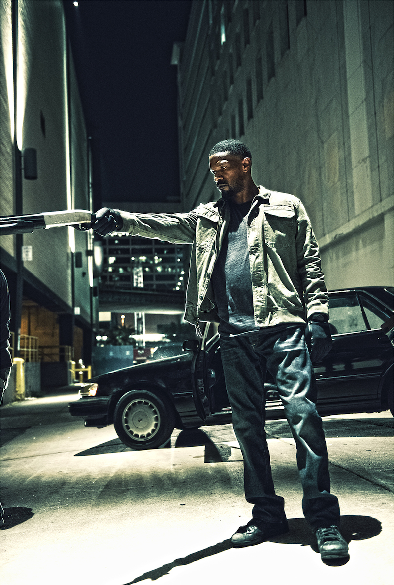 Jamie Foxx in SLEEPLESS. (Photo by Erica Parise / courtesy of Open Road Films).