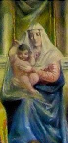 Particolare della lunetta del Duomo