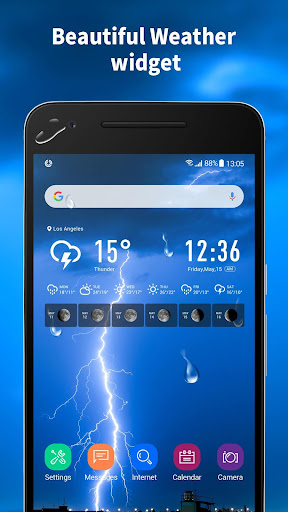 World weather widget& moon phrase information 12.1.5.3550 screenshots 1