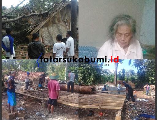 Pohon Tumbang Timpa Rumah, Rumah Hancur Nenek Lansia Terluka