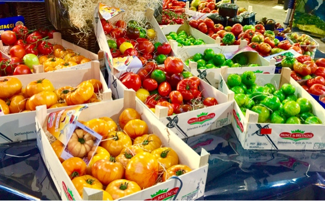 Heirloom tomatoes at Borough Market
