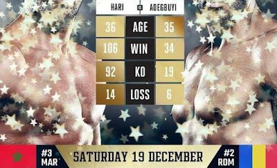 Badr Hari vs Benjamin Adegbuyi - Chaine pour regarder le combat en direct aujourd'hui à partir de 21h00 heure Française