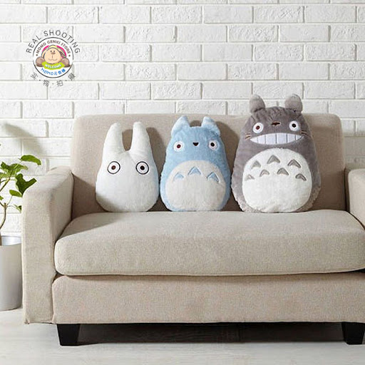 Cute Kawaii Totoro Anime Led Colorful Plush Pillow : Studio Ghibli My Neighbor Totoro Pillow / Toy / Doll - Gray Totoro (45cm) Lazada Malaysia