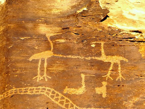 Crane petroglyphs
