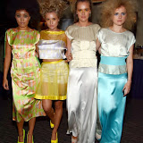 WWW.ENTSIMAGES.COM -  Hannah-Marie Shogbesan, Yasmin St Clair-Pearce, Zara StClair-Pearce and Anastasiya Afro Hair  at  Neobotanic Fashion SS14 exotic landscape collection at The Millennium Hotel  London October 14th 2013Photo Mobis Photos/OIC 0203 174 1069