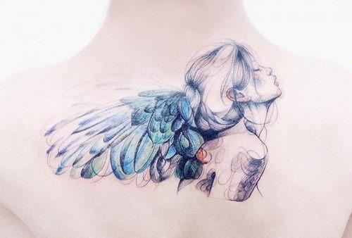 este_maravilhoso_do_tattoo_do_anjo_para_as_mulheres