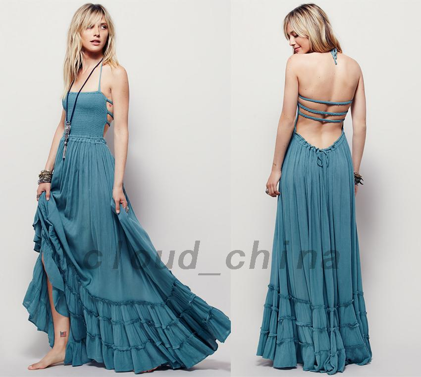 Wedding-Bridesmaid-Formal-Evening-Gown-Prom-Party-Long-Maxi-Dress-Stretch-Bodice