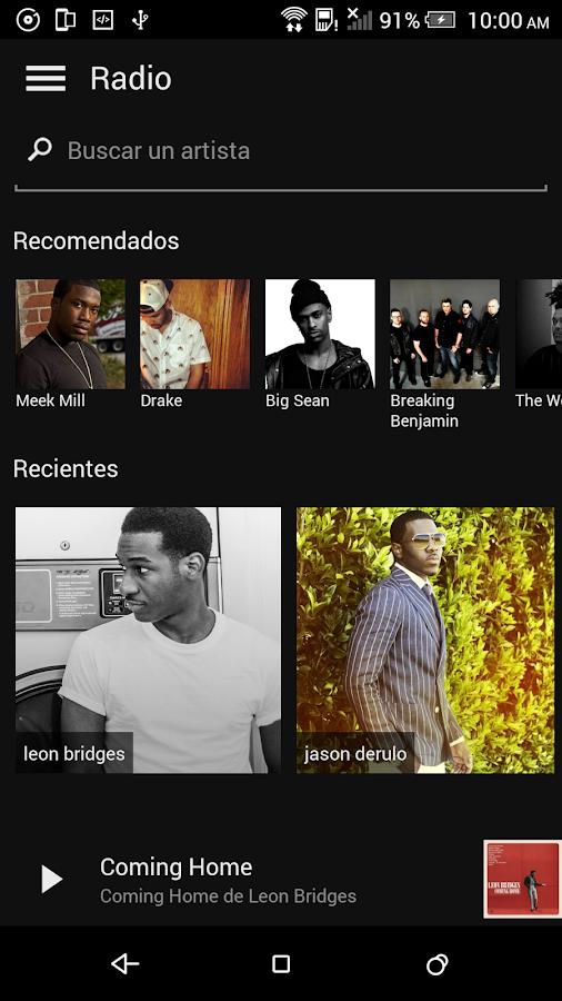 Microsoft Groove: captura de pantalla