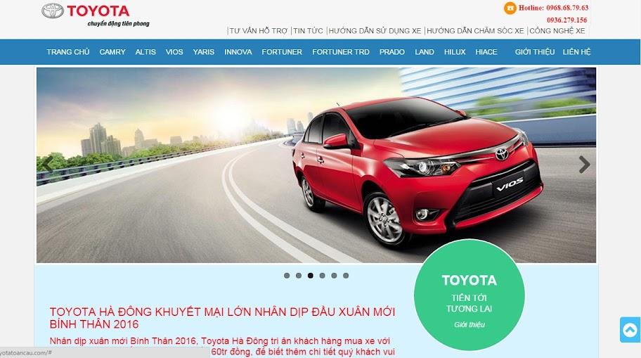 Website bán hàng ô tô trực tuyến OTO