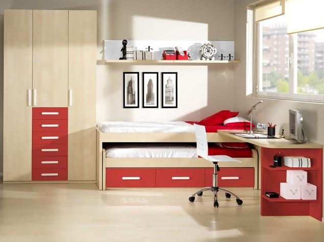 17 dormitorios juveniles en color rojo ideas decoraci n ig - Dormitorios juveniles en merkamueble ...