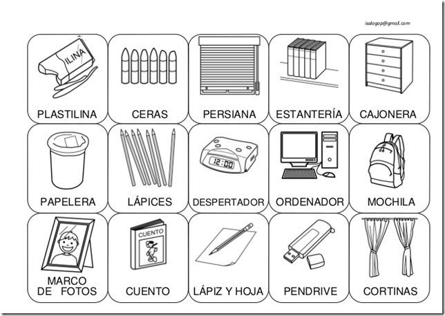 Imagenes de muebles de cocina para colorear for Mobiliario en ingles