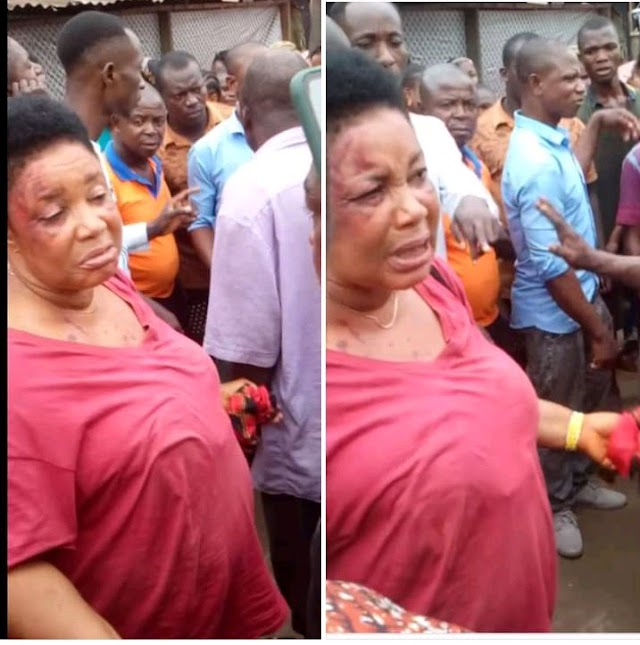 See Woman Who Stole A Man's Manhood In Aba As She Returns It