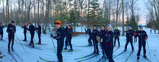 Moorhead Nordic Ski Team out on the trails bright and early.