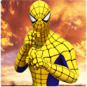 Flying spider crime city rescue game icon