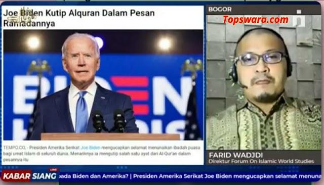 Joe Biden Beri Pesan Ramadhan, Direktur Forum on Islamic World: Problematika Terbesar Dunia Islam karena Intervensi AS