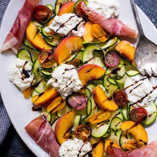 Zucchini, Peach and Burrata Salad