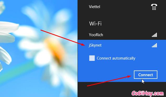 danh sách wifi và kết nối máy tính vào wifi