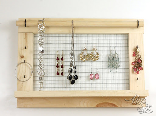 Wall Mounted DIY Jewelry Organizer Do It Herself Worskhops from The
