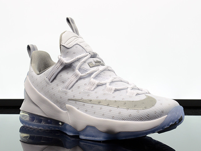 ... Available Now Nike LeBron 13 Low White amp Silver ... 7748c56df