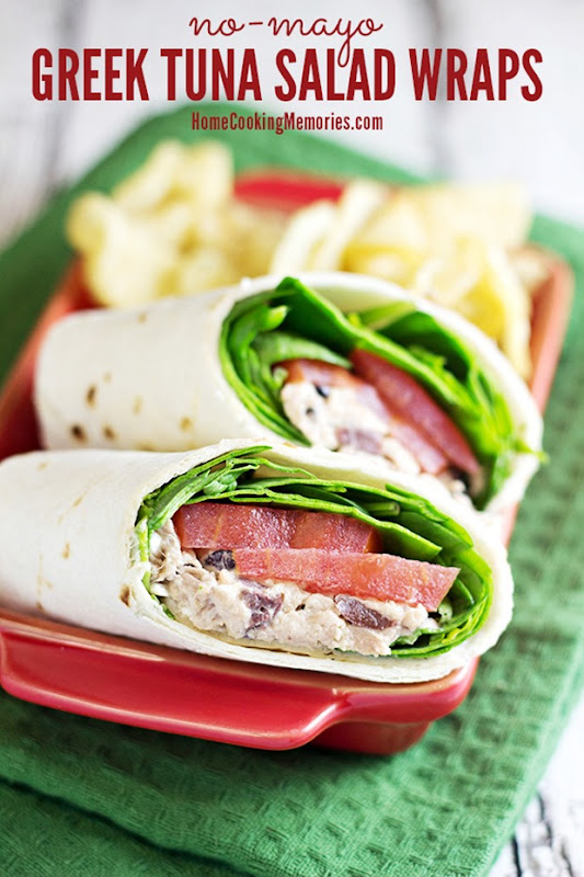 Greek Tuna Salad Wraps @ Home Cooking Memories