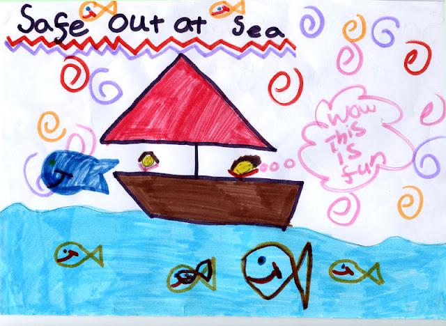 Sea safety poster - Ebony