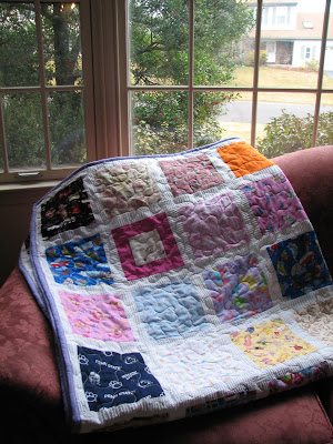 100 Good Wishes quilt. There are 88 blocks of love and good wishes int his quilt