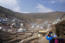 Coming into Namche