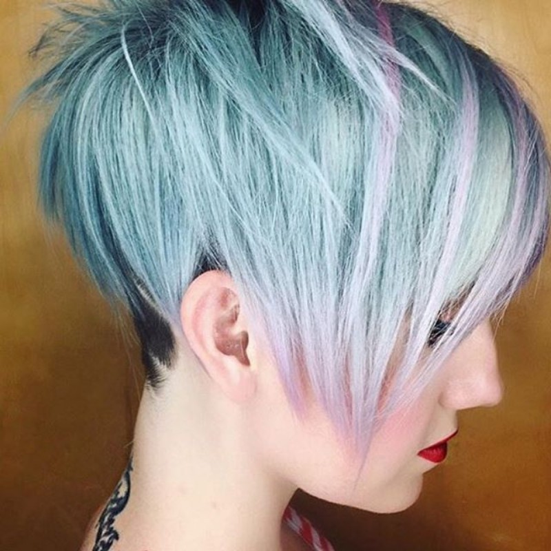 AMAZING COLORFUL UNDER CUT HAIR STYLES FOR WOMEN 1