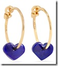 1 1 yellow gold lapis lazuli Heart earrings