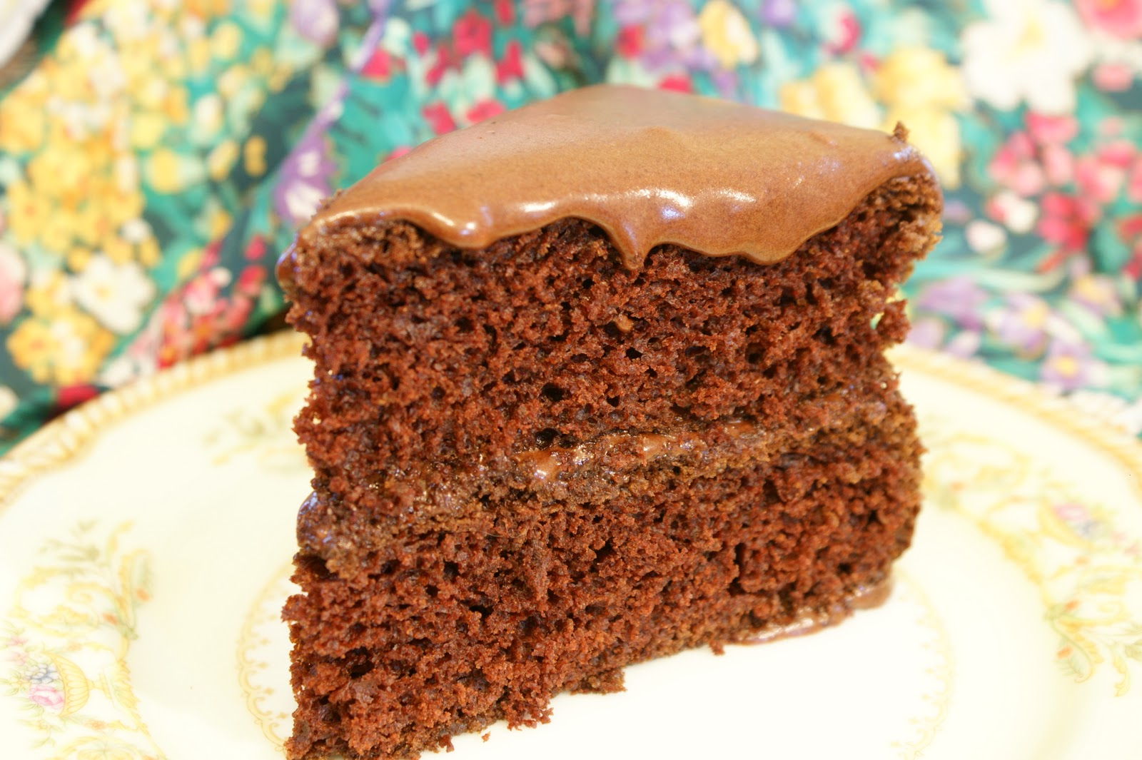 Old Fashioned Chocolate Cake Made With Mayonnaise