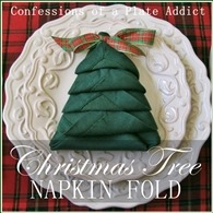 CONFESSIONS OF A PLATE ADDICT Christmas Tree Napkin Fold square