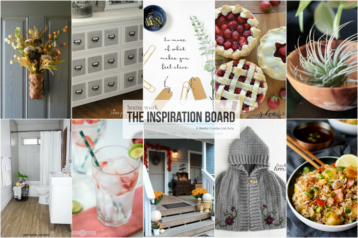 The Inspiration Board Features from homework