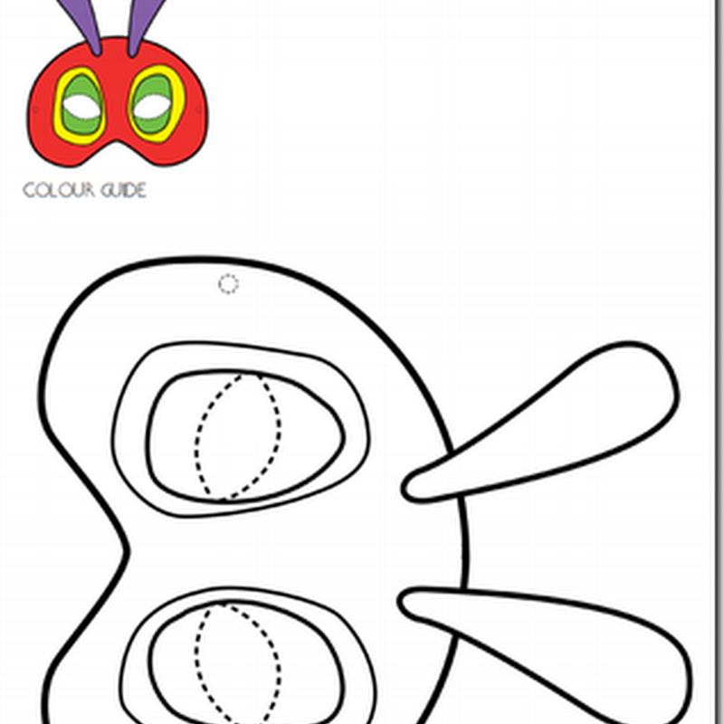Gratis máscara de gusano colorear
