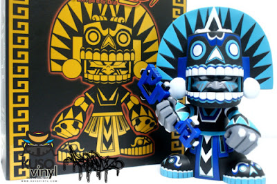 WonderCon Exclusive Southern Mictlan Vinyl Figure and Packaging by Jesse Hernandez