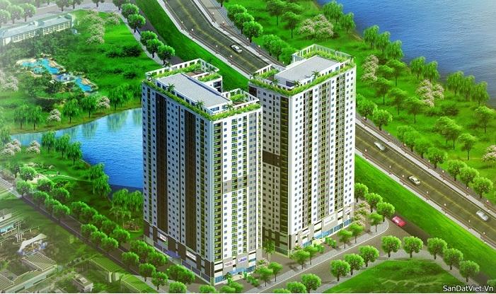Phối cảnh tổng quan dự án chung cư Hateco Hoàng Mai
