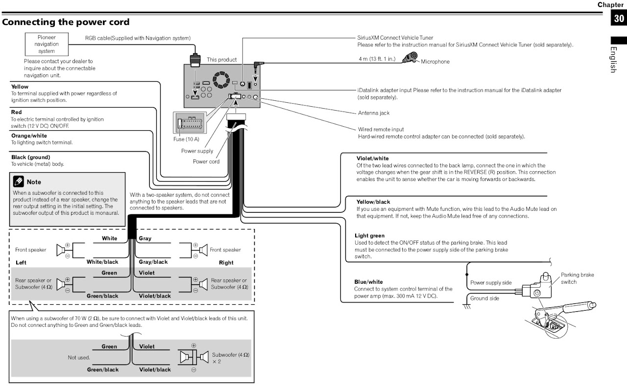 Wiring Diagram For Pioneer Avh X3500bhs : Pioneer avh bhs wire diagram wiring
