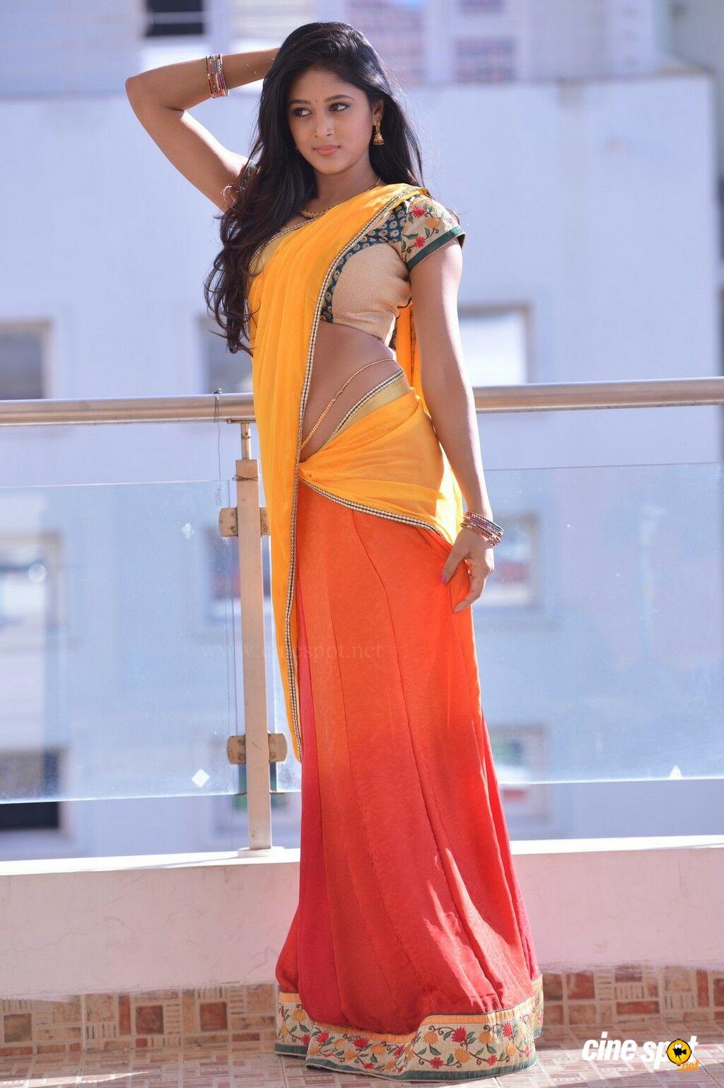 Sushma Raj Spicy Hot Saree Collection - Cinebulkblogspotcom-2018