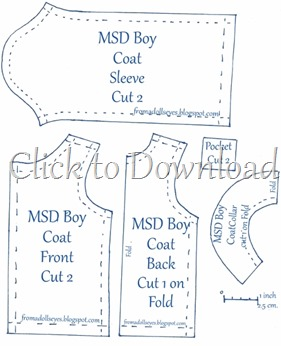 MSD Boy Felt Coat Pattern