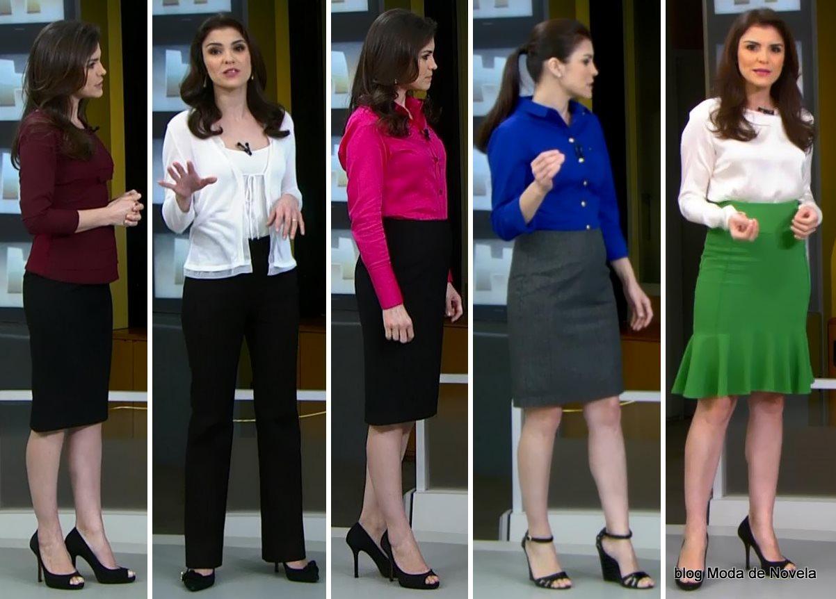 moda do programa Jornal Hoje - looks da moça do tempo dias 30 de junho a 4 de julho