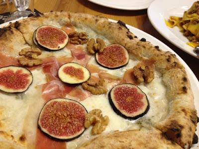 Pizza Fabbrica, prosciutto di Parma walnuts gorgonzola figs