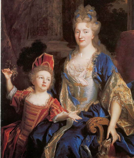 Nicolas de Largillière - Portrait of Catherine Coustard with her daughter Léonor