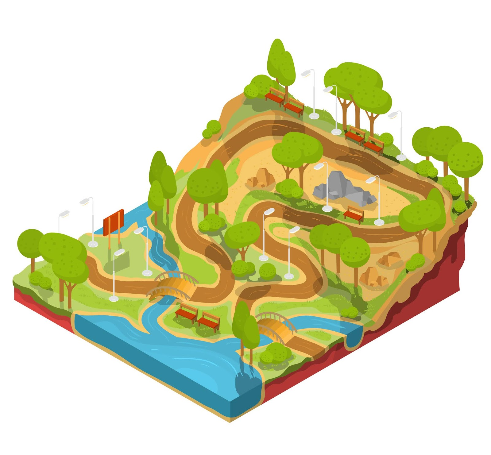 Vector 3d Isometric Illustration Cross Section Free Download Vector CDR, AI, EPS and PNG Formats